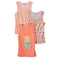 Girls 4-6x Freestyle Revolution 3-pk. Print, Stripe & Graphic Tank Tops Set