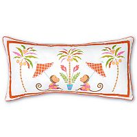 Haute Girls Safari Monkey Throw Pillow