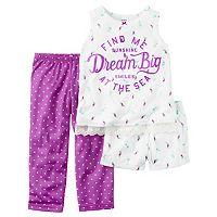 Girls 4-14 Carter's Dot & Print Pajama Set