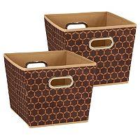 Household Essentials 2-piece Tapered Bin Set