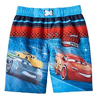 Disney / Pixar Cars 3 Jackson Storm, Cruz Ramirez & Lightning McQueen Boys 4-7 Boardshort Swim Trunks