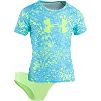 Girls 7-16 Under Armour Pop Logo Rashguard & Bottoms Swimsuit Set