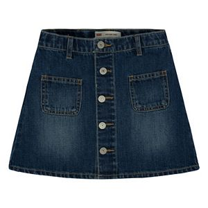 Girls 7-16 Levi's Button Front Jean Skirt