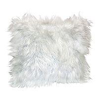Angora Faux Fur Throw Pillow
