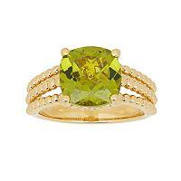 David Tutera 14k Gold Over Silver Simulated Peridot Ring