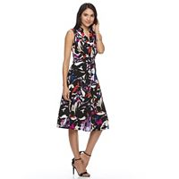 Women's Dana Buchman Crepe Fit & Flare Dress
