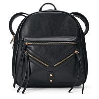 Yoki Diagonal Zipper Backpack