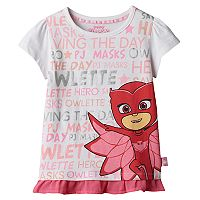Girls 4-7 PJ Masks Owlette Ruffled-Hem Tee