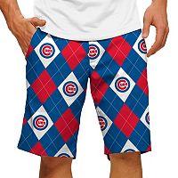 Men's Loudmouth Chicago Cubs Argyle Shorts