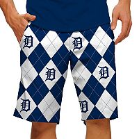 Men's Loudmouth Detroit Tigers Argyle Shorts