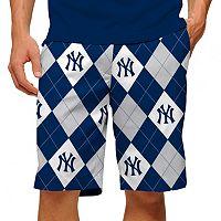 Men's Loudmouth New York Yankees Argyle Shorts