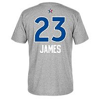 Men's adidas Cleveland Cavaliers LeBron James All-Star Name & Number Tee