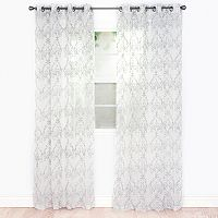 Portsmouth Home 2-pack Valencia Embroidered Curtain