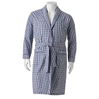 Big & Tall Residence Broadcloth Shawl-Collar Robe