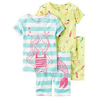 Baby Girl Carter's 4-pc. Tee & Shorts Pajama Set