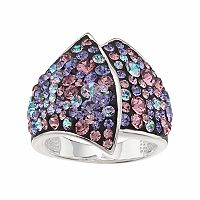 Confetti Purple Crystal Ring