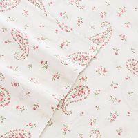 Laura Ashley Lifestyles 4-piece Bristol Paisley 300 Thread Count Sheet Set