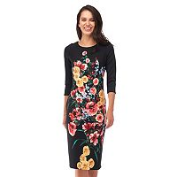 Women's Indication Floral Sheath Dress