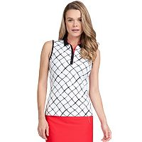 Women's Tail Andrea Metal Button Placket Knit Golf Top