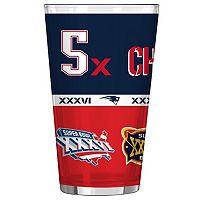 Boelter New EnglandPatriots Five Time Super Bowl Champions Pint Glass