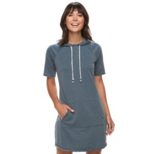 Women's SONOMA Goods for Life™ French Terry Hoodie Shift Dress