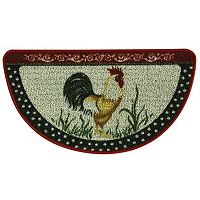 Bacova Classic Berber Cock-A-Doodle Rooster Slice Rug - 1'6'' x 2'7''