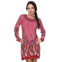 Women's White Mark Paisley Embroidered Sweaterdress