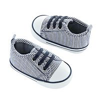 Baby Carter's Striped Sneaker Crib Shoes