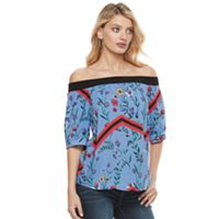 Women's Juicy Couture Print Off-the-Shoulder Top