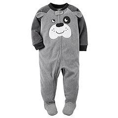 Toddler Boy Carter's Dog Fleece Footed Pajamas