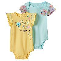 Baby Girl Baby Starters 2-pk. Giraffe Graphic & Polka-Dot Tulle Bodysuits