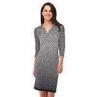 Women's Indication Geometric Sheath Dress