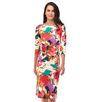 Women's Indication Abstract Floral Sheath Dress