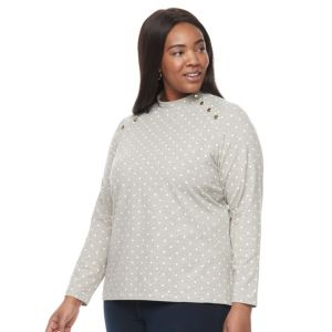 Plus Size Croft & Barrow® Mock Neck Tee