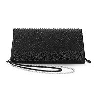 Lenore by La Regale Beaded Flap Clutch