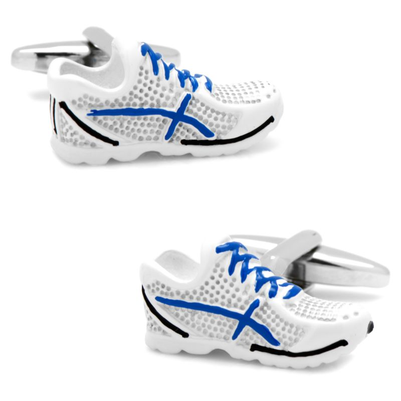 Running Shoes Cuff Links, Men's, White thumbnail