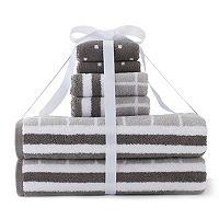 Simple By Design 6-piece Grid Bath Towel Set