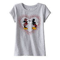 Disney's Mickey & Minnie Mouse Girls 4-7 Rhinestone Tee by Jumping Beans®