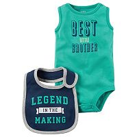 Baby Boy Carter's Graphic Bodysuit & Graphic Bib Set