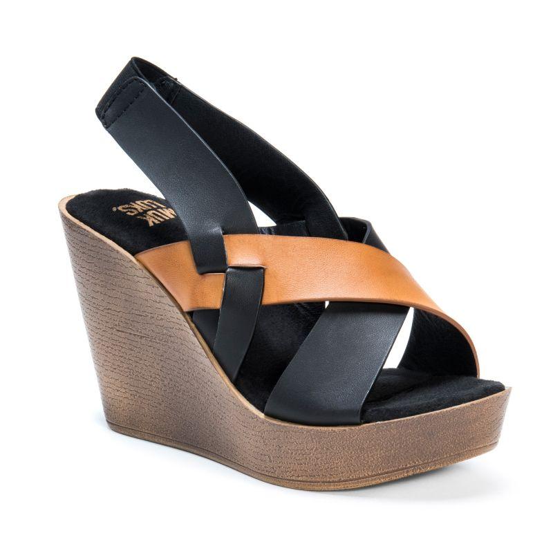 MUK LUKS Beth Women's Wedge Sandals, Size: 10, Lt Brown thumbnail