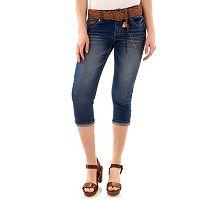 Juniors' Wallflower Luscious Curvy Capri Jeans
