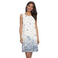 Women's Bethany Print Lace Shift Dress