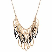Apt. 9® Glittery Open Marquise Swag Necklace