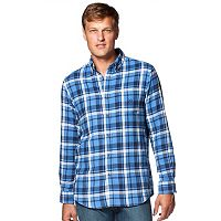 Men's Chaps Flannel Classic-Fit Open Check Button-Down Shirt