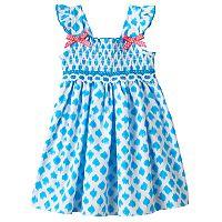 Baby Girl Sophie Rose Smocked Dot Dress