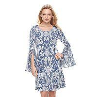 Women's MSK Abstract Bell Shift Dress