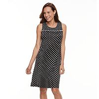 Women's Perceptions Polka-Dot Shift Dress