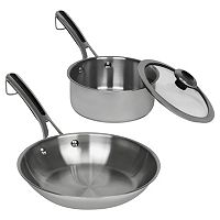 Revere Copper Confidence Core 2-pc. Stainless Steel Stainless Steel Sauce Pot & Frypan Starter Set