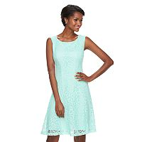 Women's Connected Apparel Scroll Lace A-Line Dress