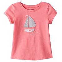 Toddler Girl Jumping Beans® Short Sleeve Embroidered Applique Tee